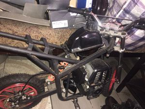 Have title and everything took the body kit off to show the inside of bike properly easy put back on 2 stroke gas dirt bike , looking for 250 will ne for Sale in The Bronx, NY