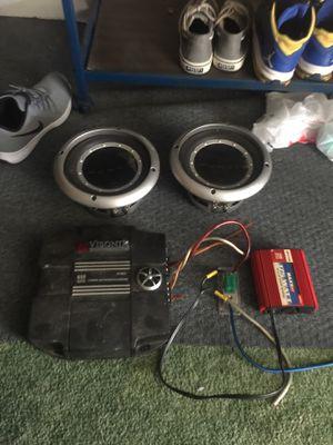 Punch speakers 600 watt amp 175 watt dc to ac inverter for Sale in Mansura, LA