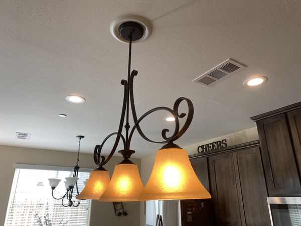 3 light Kitchen Island Pendant