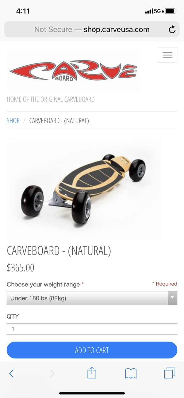 Carve board. Big, flexy board with pneumatic tire and wheel springs. Stand up paddle included