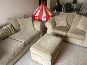 Living Room Set - 2 Sofas + 1 Ottoman for Sale in Dublin,  OH