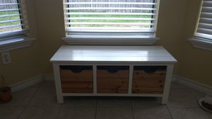 White wood bench with 3 compartments for Sale in Corpus Christi, TX