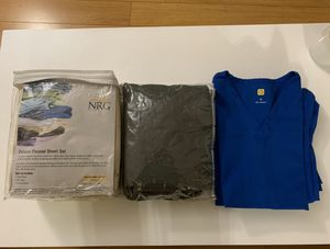 2 Massage Sheets Sets + 1 Scrub + MBLEX prep for Sale in Los Angeles, CA