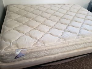 Free full size mattress, box spring and rail. for Sale in Phoenix, AZ