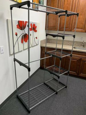 New in box wardrobe clothes shoes closet organizer hanging stand rack storage organizer 46x20x70 inches for Sale in Pico Rivera, CA