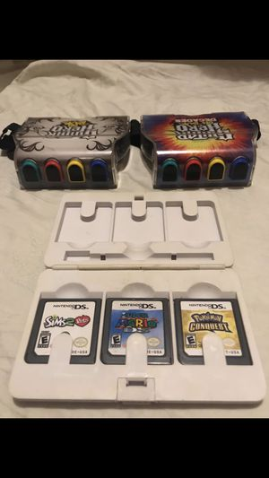 Nintendo DS Games + Guitar Hero On Tour Grips (New) for Sale in Wichita, KS