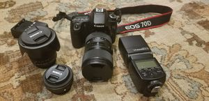 Canon 70D bundle with Canon Lenses for Sale in Round Rock, TX