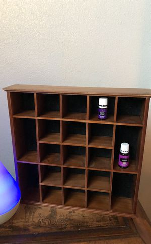 Nice wooden SHADOWBOX for your mini parfumes or essential oils for Sale in Houston, TX