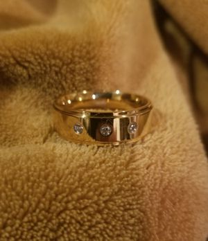 Size 13 Ion Plated 14kt Gold and CZ Ring for Sale in West Sacramento, CA