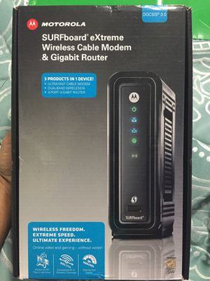 Brand New Motorola SURFboard eXtreme Wireless Cable Modem and Gigabit Router for Sale in Kissimmee, FL