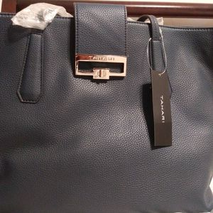 Tahari Tote Handbag- Navy Blue for Sale in Fort Lauderdale, FL