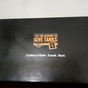 Harley Davidson 2004 Collectible Mini Gas Tank Set In Shadow Box Display for Sale in Garden Grove, CA