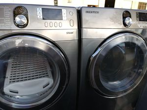 2019 almost like new never been used Samsung's best stainless face washer and matching dryer $360 for Sale in Grand Prairie, TX