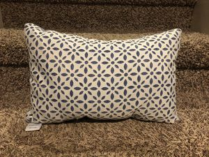 Light blue and white Martha Stewart pillow. Cut outs. for Sale in Lake Villa, IL