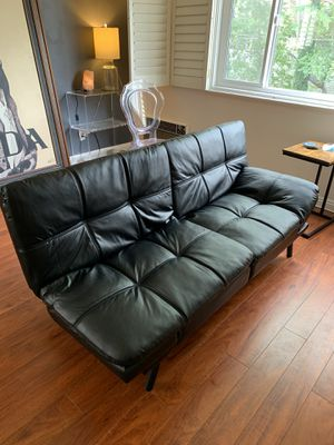 Memory foam futon! With folding arms! Super comfy! for Sale in Los Angeles, CA