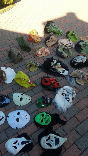 Multiple Halloween masks available. Some are children most are adults. Prices range from $5 to $25 for Sale in Morton Grove, IL