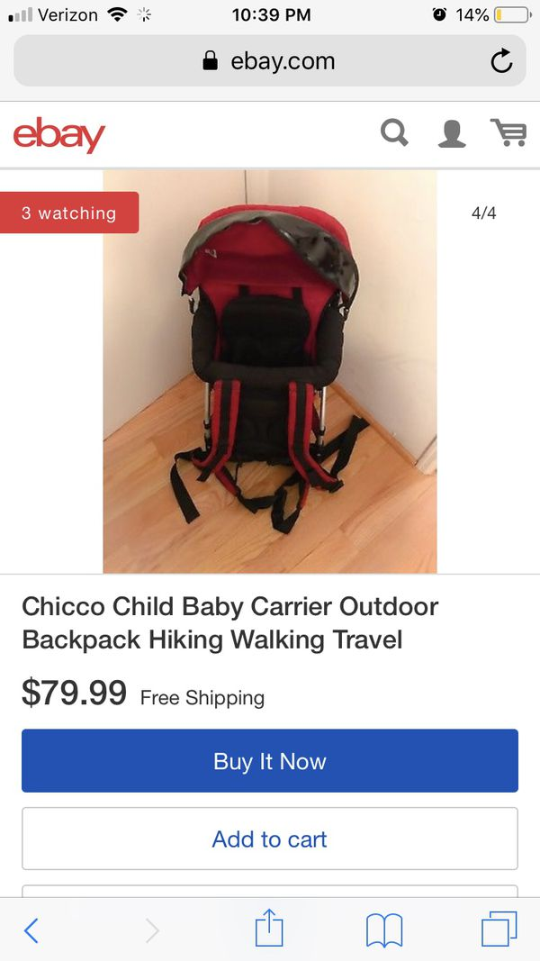 7fd7dd3c879 Chicco Smart Support Child Baby Hiking Walking Travel Backpack ...