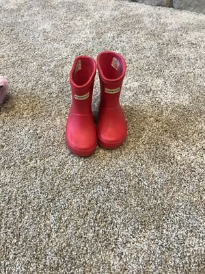 Hunter toddler 4 girls boot for Sale in Newcastle, WA