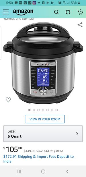 New instant pot, only used one time ,its big for me thats why i'm selling for Sale in Sewickley, PA