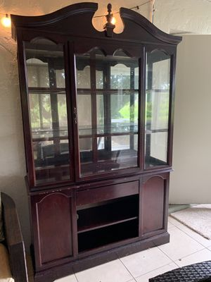Cherry Oak China Cabinet for Sale in Fort Myers, FL