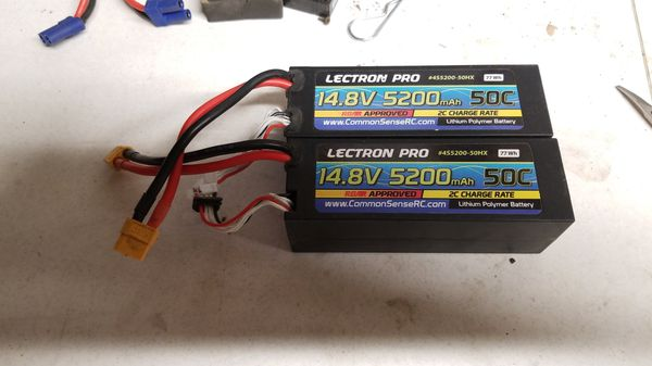 New lectron pro 14.8v lipo batteries