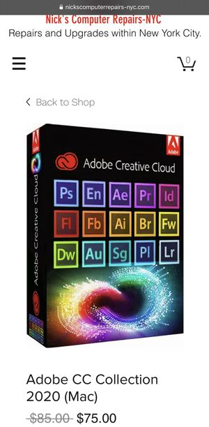 Adobe CC Collection 2020 for Mac for Sale in New York, NY