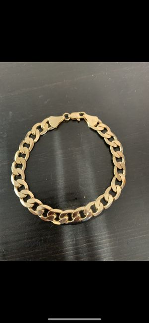 14k gold 12mm cuban bracelet for Sale in Tampa, FL