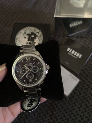 Silver Rhinestone Versace Watch for Sale in Downey, CA
