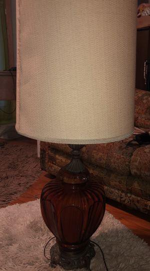 Vintage mid century amber lamp for Sale in Lakeland, FL