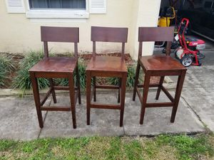 Wood bar stools for Sale in Winter Haven, FL