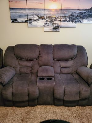 Sofa/Recliner and coffee table for Sale in Las Vegas, NV