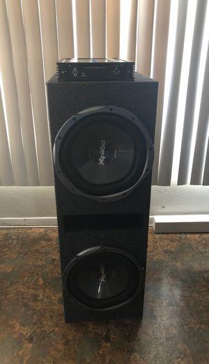 Subwoofer 2(12) Amplifier Crunch for Sale in Las Vegas, NV