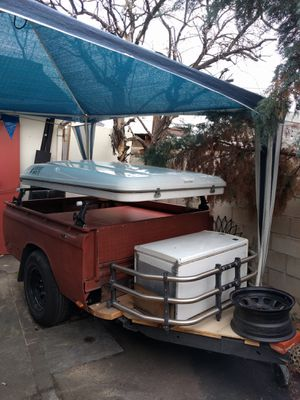 Update* 1973 Chevy Luv truck bed trailer camper for Sale in Pasadena, CA
