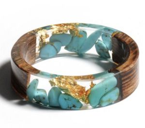 Genuine Turquoise, Flecks Of Gold & Wood Resin Make This Ring Simply Stunning. Brand New. Size 7 & 8 Available for Sale in Sudley Springs, VA