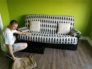 Like new futon. 100% wood with beautiful grain. for Sale in Homer Glen, IL
