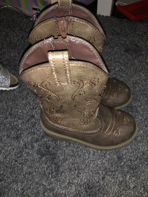 Girls toddler brown cowboy boots for Sale in Los Angeles, CA