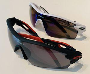Men's Half Jacket Shield Sports Baseball Fishing Generic Sunglasses Oil Neon & Dark Lens Black Red & White black Frame 2 PAIRS * NEW* for Sale in Marysville, WA
