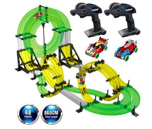 Brand New in Box Rail Race RC Track Car Toys 860cm Build Your Own 3D Super Track Ultimate Slot Car Playset 2 Cars 2 Remote Controller Party Game Kids for Sale in Hayward, CA