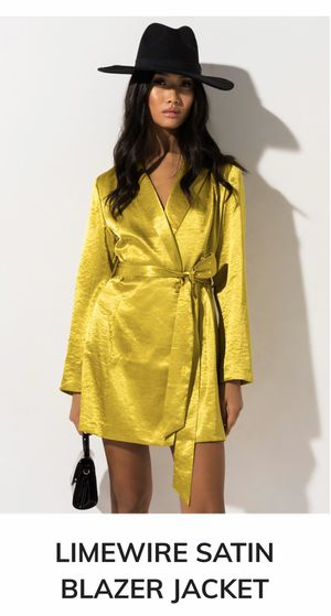 MUSTARD GREEN BLAZER DRESS for Sale in Bend, OR