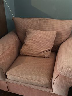 Used Red Sofa Chair Set (2) for Sale in Cleveland,  OH