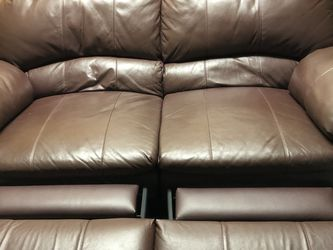 Authentic Leather Very Durable Reclining couch for Sale in Chicago,  IL