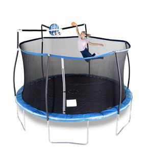 Trampoline 14 foot with slam dunk hoop. for Sale in Kahului, HI