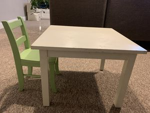 Pottery Barn kids table and chair for Sale in Seattle, WA