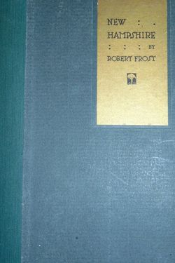 Robert Frost New Hampshire Poetry Book 1923 First Print Edition. for Sale in Overgaard,  AZ