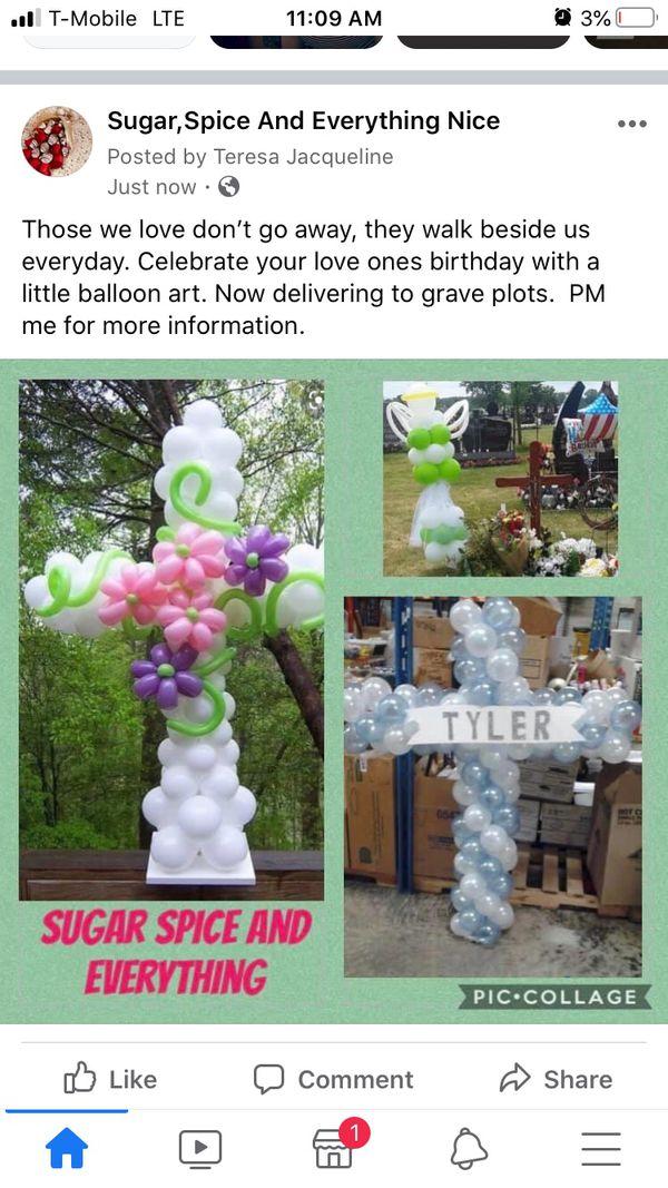 Funeral Balloon Decor