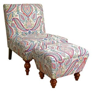 Slipper Accent Chair and Ottoman Set for Sale in NO POTOMAC, MD