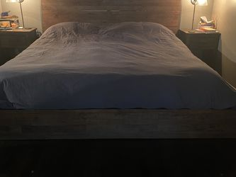 Pottery Barn Reclaimed Wood King Size Bedframe for Sale in Aurora,  CO