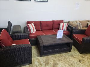 Brand New Outdoor Patio Furniture Sofa and two chairs and coffee table tax included free delivery for Sale in Hayward, CA