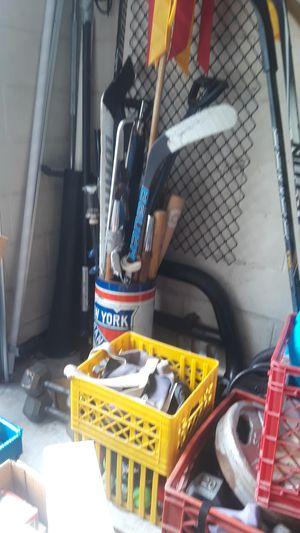 Baseball bats, hockey pucks,balls and sticks for Sale in Lutz, FL