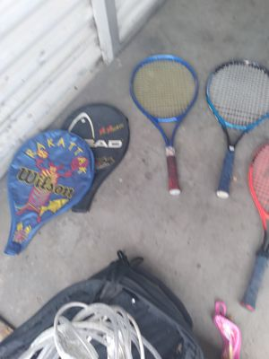 Tennis rackets and racket ball rackets for Sale in West Carson, CA